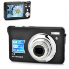 "DC-K10 5.0MP CMOS Digital Camera w/ 3X Optical Zoom / 4X Digital Zoom / SD - Black (2.7"" TFT LCD)"