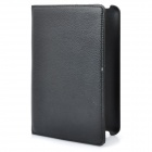 Protective 360 Degree Rotation Holder PU Leather Case for Samsung P6800 - Black
