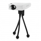 Portable Smart Mini Home/Office lED USB LCOS Projector - White