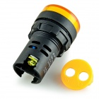 AD16-22D/S 22mm LED Signal Indicator Light Lamp - Yellow + Black