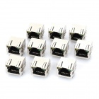 Spring Designed RJ45 Network Socket with Indicator Lights- Black + Silver (AC 125V / 10-Piece Pack)