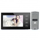 "Ultra-thin 7"" LED Color 380K Pixels Video Door Phone w/ Night Vision - Black"