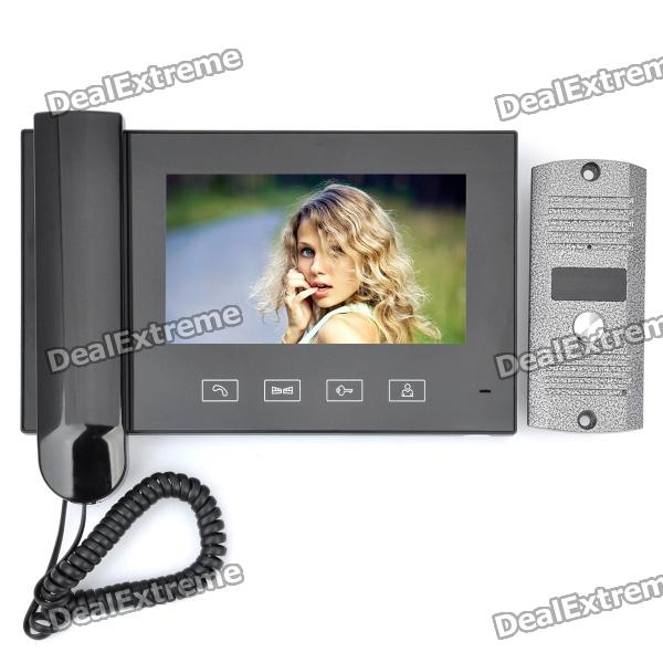 HN-788 7 LED 380KP CMOS Digital Video Door Phone w/ IR Night Vision / Microphone - Black black new 7 85 inch regulus 2 itwgn785 tablet touch screen panel digitizer glass sensor replacement free shipping