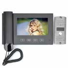 "HN-788 7"" LED 380KP CMOS Digital Video Door Phone w/ IR Night Vision / Microphone - Black"