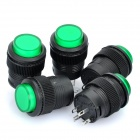 R16-503 16mm Self-Locking Push Button Switch w/ Indicator - Green + Black (220V / 5-Piece Pack)