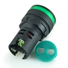 AD16-22D/S 22mm LED Signal Indicator Light Lamp - Green + Black