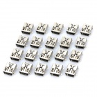 Mini USB 5-Pin FB Type SMT Connector Sockets - Silver (DC 30V / 20-Piece Pack)