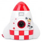 Creative Cartoon Rocket Style 300K Pixels USB Digital Camera - White (1.0