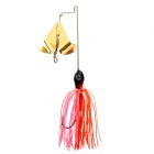 In-Line Spinnerbait Fishing Bait - Red + Gold