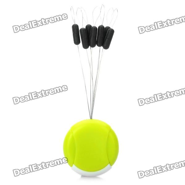 7-in-1 Fishing Float Floater Bobber Stopper - White + Green + Black (5-12#)