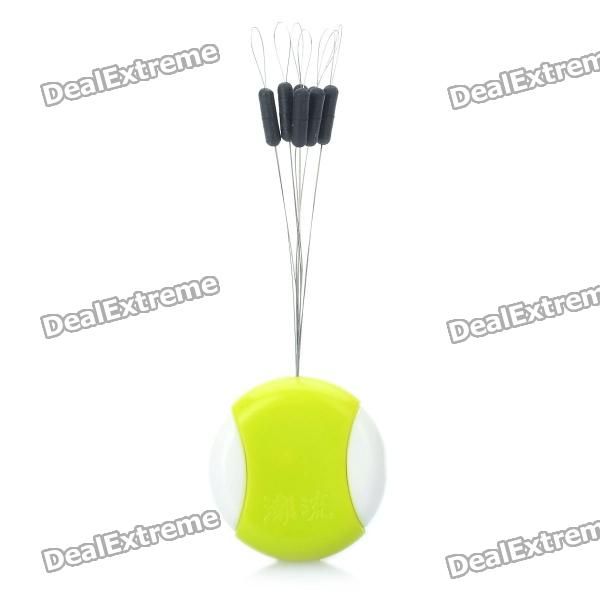 7-in-1 Fishing Float Floater Bobber Stopper - White + Green + Black (0.6-5#)