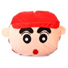 Cute Cartoon Style Folding Blanket Pillow Cushion for Car / Home - Crayon Shin Doll (Red)