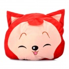 Cute Cartoon Style Folding Blanket Pillow Cushion for Car / Home - Ali Fox Doll (Red)