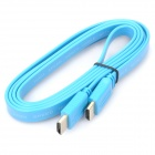 HDMI V1.4 HD 1080P Male to Male Flat Connection Cable - Light Blue (1.5M-Length)