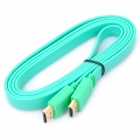 HDMI V1.4 HD 1080P Male to Male Flat Connection Cable - Green (1.5M-Length)