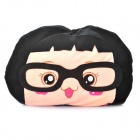 Cute Cartoon Style Folding Blanket Pillow Cushion for Car / Home - Caicai Doll (Black)