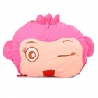 Cute Cartoon Style Folding Blanket Pillow Cushion for Car / Home - CiCi Monkey Doll (Pink)
