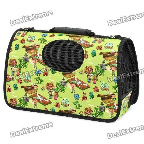 Portable Folding Outdoor Waterproof Bag for Pets - Green (Size S)