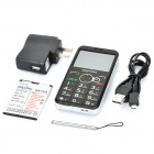 Daxian GST3000 Old Senior Bar Phone w/ 2.2&quot; Resistive, Dual SIM, GSM Quadband and FM - Silver