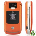 "Refurbished Motorola RAZR V3x WCDMA Flip Phone w/2.2"" LCD Screen, Single SIM and Java - Orange"