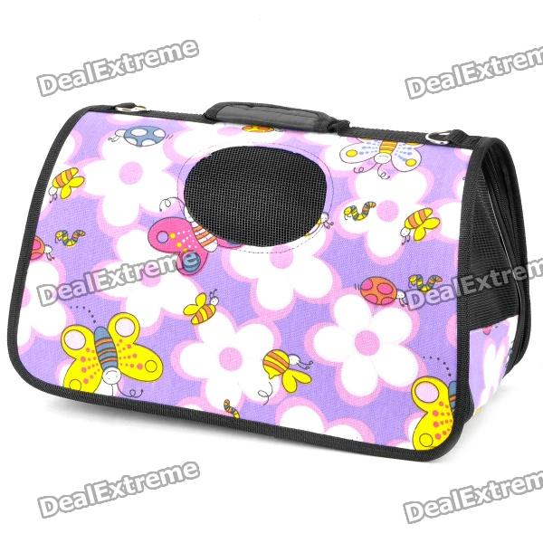 Portable Folding Outdoor Waterproof Bag for Pets - Purple (Size M)