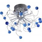 Stylish blue crystal chandelier (110-120v)