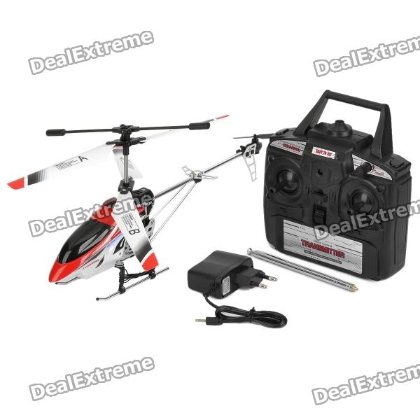 27MHz Rechargeable 3.5-CH R/C Helicopter with Gyroscope - White + Red