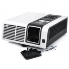 LED DLP Pocket Projector w/ VGA / AV / SD / Mini USB / DC - Black + White