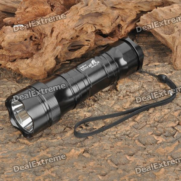 UltraFire SH-3AA 245LM 5-Mode Memory White LED Flashlight w/ Strap (3 x AA / 1 x 26650)AA Flashlights<br>Brand: UltraFire Model: SH-3AA Emitter Brand: Cree LED Type: XR-E BIN: Q5 Color: White Number of Emitter: 1 Voltage Input: 3.6~4.5V Battery Configuration: 3 x AA batteries / or 1 x 26650 battery (not included) Circuitry: Digital regulated 1000mA Brightness: 245LM Runtime: 3~4h Number of Modes: 5 Mode Arrangement: Hi &gt; Mid &gt; Low &gt; Fast Strobe &gt; SOS Mode Memory: Yes Switch Type: Reverse Clicky Switch Location: Tailcap Lens: Glass Lens Reflector: Aluminum Smooth/SMO Strap Included: Yes Clip Included: No Accessories/Spare parts: - Others Features: Hard anodized finish; Splash proof<br>
