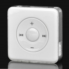 Mini Rechargeable MP3 Player with TF Slot - White