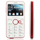 "Daxian GST3000 Old Senior Bar Phone w/ 2.2"" Resistive, Dual SIM, GSM Quadband and FM - White + Red"