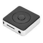 Mini Rechargeable MP3 Player with TF Slot - Black