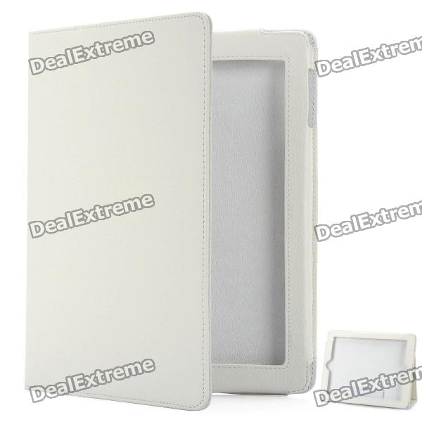 Protective PU Leather Case for New Ipad - White barrow tzs1 a02 yklzs1 t01 g1 4 white black silver gold acrylic water cooling plug coins can be used to twist the