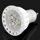 GU10 3W 6000K 300-Lumen 3-LED White Light Bulb (AC 85~240V)