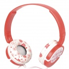 DR-802 Headset Headphone - White + Red (3.5mm Jack / 1.5m-Cable)