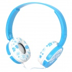 DR-802 Headset Headphone - White + Blue (3.5mm Jack / 1.5m-Cable)
