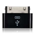 Apple 30 Pin Male to Micro USB Female Adapter for iPhone / iPad - Black