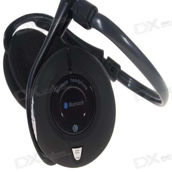 around neck stereo bluetooth headset with music controls bth 330 8 hour usage 150 hour standby. Black Bedroom Furniture Sets. Home Design Ideas