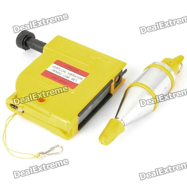 REWIN Magnetic Plumb Bob Setter Leveling Device - Yellow + Silver (4.5M)