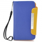 KALAIDENG Protective PU Leather Flip-Open Case for Meizu MX - Blue