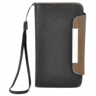 KALAIDENG Protective PU Leather Flip-Open Case for Meizu MX - Black + Coffee
