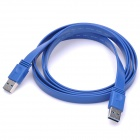 USB 3.0 Male to Male Mobile Hard Disk Slim Data Cable - Blue (1.5M-Cable Length)