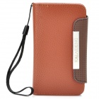 KALAIDENG Protective PU Leather Flip-Open Case for Meizu MX - Brown