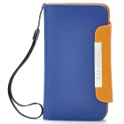 KALAIDENG Protective PU Leather Flip-Open Case for Sony LT26i - Blue + Orange