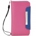 KALAIDENG Protective PU Leather Flip-Open Case for Sony Ericsson LT26i - Deep Pink