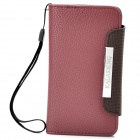 KALAIDENG Protective PU Leather Flip-Open Case for Sony Ericsson LT26i - Red