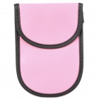 Anti-Radiation Leather Bag for Cell Phones - Pink