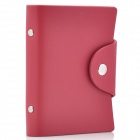 Stylish PU Leather Business Credit Card Holder Case Bag (18-Pocket / Red)