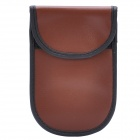 Cell Phone Signal Shield/Block Soft Leather Pouch - Brown