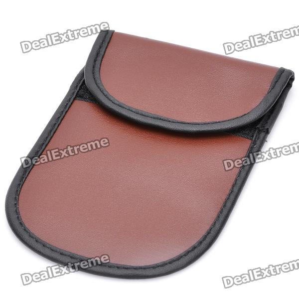 Cell Phone Signal Shield/Block Soft Leather Pouch - Brown - Free ...
